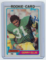 1981 PACKERS Gerry Ellis signed Rookie Card Topps #291 AUTO Autographed RC