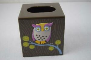 Awesome Owls Plastic Tissue Box Cover By Challis & Roos