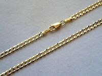 "14K SOLID GOLD 3.5MM MEN WOMEN CUBAN LINK CHAIN SIZE 16"" - 36""' FREE SHIPPING"