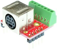Mini Din 7 Female connector Breakout Board, adapter, eLabGuy mDIN7-F-BO-V2A