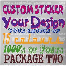 CUSTOM DESIGN STICKER/DECAL PACK 2- Capt'n Skullys Stickers Online MPN 2005