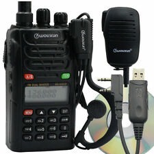 Wouxun KG-UVD1P Dual Band FM Ham Two-way Radio + Handheld Speaker & USB Cable