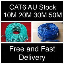 10m 20m 30m 50m Cat6 Ethernet Network Lead LAN Cable 100M/1000Mbps