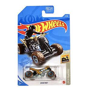Hot Wheels 2021 HW Baja Blazers QUAD ROD 1:64 Scale ATV Four Wheeler Gold 2/250