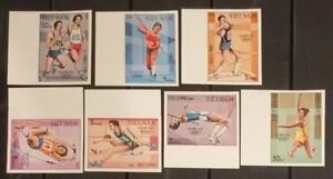 Viet nam MNH imperf stamps 1992 : Summer Olympic games in Los Angeles