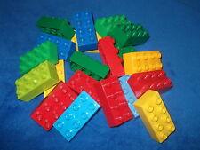 LEGO DUPLO 10 X 8er NOPPEN STEINE BAUSTEINE DUPLOSTEINE Bunte Farben gemischt