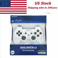 White Official PS3 PlayStation DualShock 3 Wireless SixAxis Controller GamePad