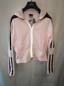 NWT Nike Dri-Fit Women's XS Pink Brown Hooded Long Sleeve Zip Running Jacket