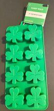 New ListingSt Patrick'S Day Mini Silicone Candy Mold Shamrocks 8 Mini 3 leaf Clovers Green