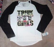 NEW TRUK FIT L/S Long Sleeve T Shirt Girls XL X-Large (sleeve transparent) NWT