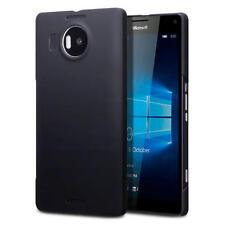 SLIM ARMOUR gommato Cover Case Per Microsoft Lumia 950 XL-Solid Black
