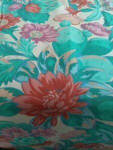 "5 Yds x 44"" VIP/Cranston Floral Print Fabric Pink, Blue, Green,Purple, Red,Beige"