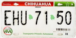 CHIHUAHUA MEXICO License plate Expired Graphic Background VIVE !!