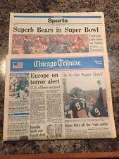 1986 Chicago Bears NFC Championship Newspaper