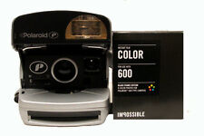 Polaroid P 600 Camera with Impossible Colour Film with BLACK Borders