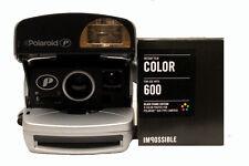 MACCHINA fotografica POLAROID P 600 con Pellicola a Colori impossibili con bordi neri