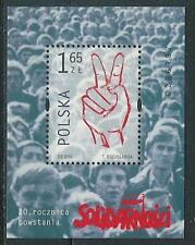Poland block MNH (Mi. B142) Solidarity