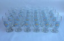 New Castle Summer Ale Beer 16oz Schooner Footed Glasses NOS Case of 24