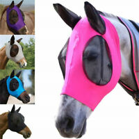 Professional Safe Horse Fly Mask Waterproof Full Face Mesh Protective Detachable