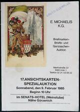 Ansichtskarten  E. MIchaels Cologne Germany 1985 German Postcard Auction Catalog