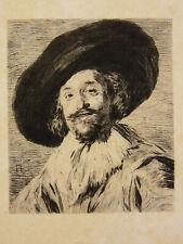 Eau-forte Originale Tirage Avant la lettre - Vers 1880 Monogramme - Timbre Sec