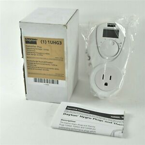 Dayton 1UHG3 Humidifier Plug, Humidifier Controller, Adj-30 to 90%, 120 Volt