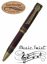 Music Twist Ballpoint with a Purple and Brass Body With Antique Brass / #470