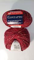 50g CONTATTO MONDIAL Merino Alpaka Tweed Irish Felted Donegal Wolle Alpaca 876