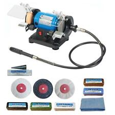 "3"" 120W Mini Bench Grinder Polisher With Pro-Max 3"" Metal Polishing Kit"