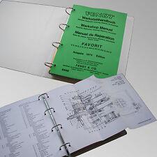 Fendt Werkstatthandbuch Favorit 4 S 10 S 11 S 12 S 610 S 611 S 612 S 614 S 8500