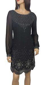 New ladies 1920's Gatsby fully embellished shift dress sizes 8 to PLUS SIZES