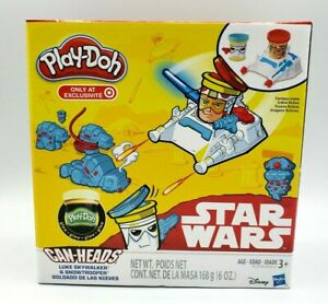 Play-Doh STAR WARS Can Heads SNOWTROOPER & SKYWALKER Playdoh Toy New in Box