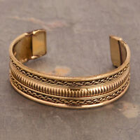 Retro Magnetic Healing Therapy Copper Bangle Bracelet Cuff Arthritis Pain Relief