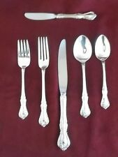 Reed&Barton Sterling Silver Rose Cascade Pattern 6 Piece Place Setting Excellent