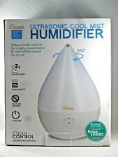 Crane Filter-Free Ultrasonic Cool Mist Humidifier - White