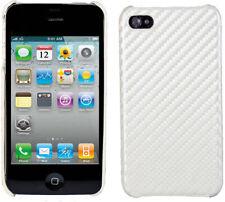 Tapa trasera look protectora para Apple iPhone 4/4s blanco rosa