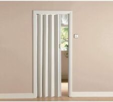 White Oak Effect Folding Door PVC Magnetic Sliding Accordion Concertina