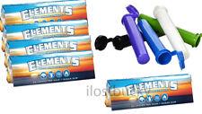 5 packs (50 leaves pr pack) Elements Rolling Paper  1 1/4 free tubes
