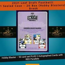 New listing Malik Herring - 2021 Leaf Draft Football Hobby Blaster Case Break -20 Box