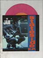 "THE JAM Stateside 7"" EP w/PS MOD Paul Weller Pink Vinyl"