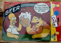 2002 HOMER & BARNEY DUFF BEER The Simpsons LARGE MOUSE MAT BRAND NEW FOX RARE ❤️