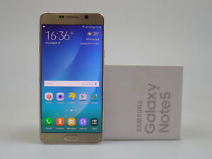 Samsung Galaxy Note 5  32GB  All Colours - Smartphone - Unlocked box up
