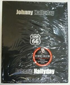 JOHNNY HALLYDAY COFFRET COLLECTOR LUXE EN 3 D TOUR 66  NEUF SCELLE