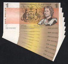 Australia R-73. (1969) 1 Dollar - Phillips/Randall. CONSEC Run of 8 .. gEF-aUNC