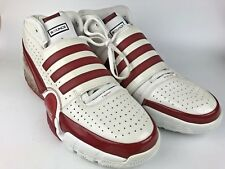 TS Bounce Commander Adidas Men's Red/White Team Basketball Shoes size 19 U.S.