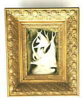 RARE Antique White Fish Ornate Gild Wood Frame Collectible Wall Decor Hanging