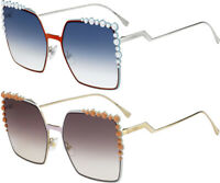 Fendi Can Eye Women's Stud-Tipped Gradient Oversize Sunglasses - FF0259S