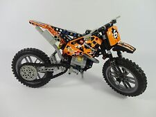 Lego Technic Moto Cross Bike 42007 Motorbike Motor Offroad Orange Dirt COMPLETE