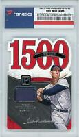 Ted Williams Boston Red Sox Signed 2016 Panini Pantheon Relic #80 #39/199 Card