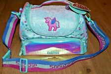 Smiggle Believe Double Tier Lunchbox With Strap insulated school Girl unicorn